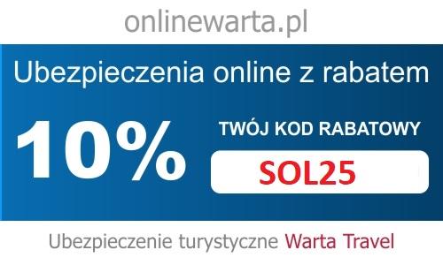 Kod rabatowy Warta Travel 10% zniżki